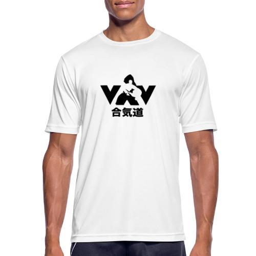 aikido zwart - Mannen T-shirt ademend actief