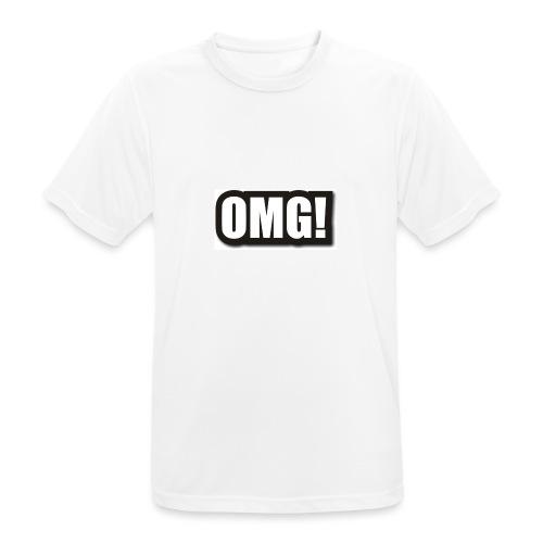 large wordprops omg - Andningsaktiv T-shirt herr