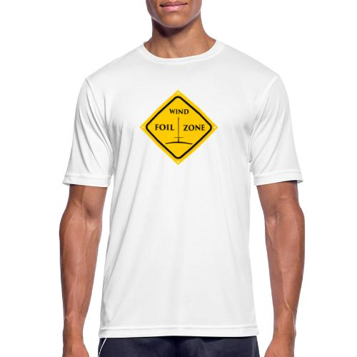 WINDFOIL zone logo new smaller - Men's Breathable T-Shirt