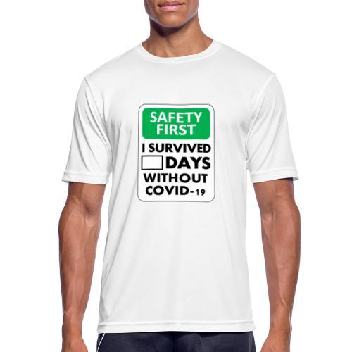 La sécurité d'abord sans Covid-19 - T-shirt respirant Homme