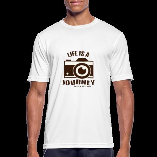 Life is a Journey - Männer T-Shirt atmungsaktiv
