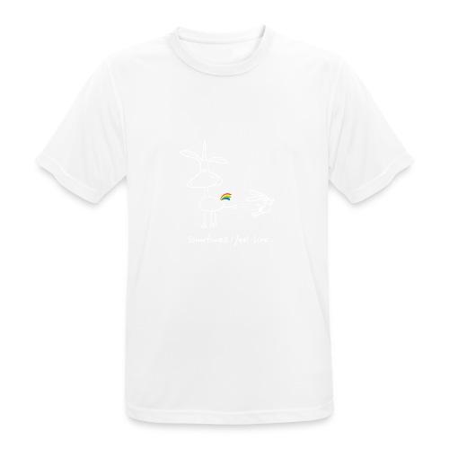Dru - sometimes I feel like... (weisse Outline) - Männer T-Shirt atmungsaktiv
