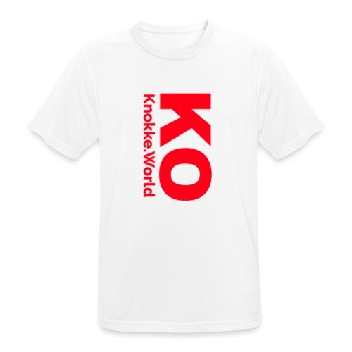 Knokke.World Pet - Mannen T-shirt ademend