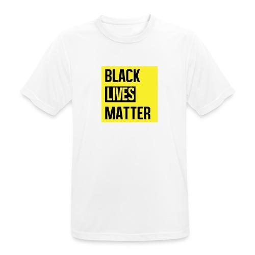 Black Lives Matter (yellow) - Mannen T-shirt ademend actief