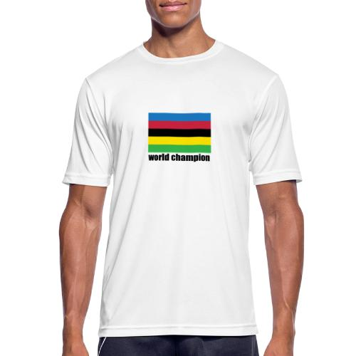 world champion cycling stripes - Mannen T-shirt ademend actief