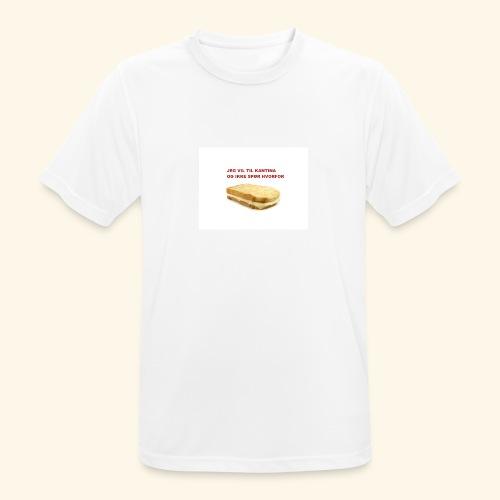 Jeg vil til kantina - Pustende T-skjorte for menn