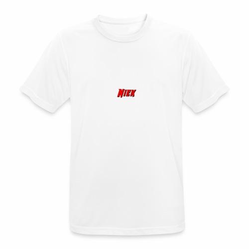Niek Red - Mannen T-shirt ademend actief