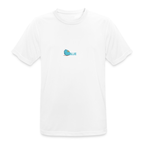 BlueCird Logo White - Männer T-Shirt atmungsaktiv