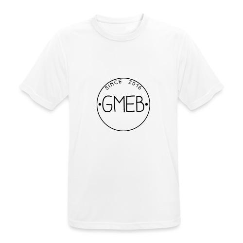 doorschijnend logo ZWART - Mannen T-shirt ademend actief