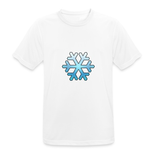 Schneeflocke - Männer T-Shirt atmungsaktiv