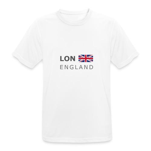 LON ENGLAND BF dark-lettered 400 dpi - Men's Breathable T-Shirt