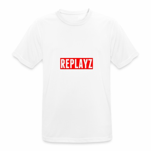 Replayz Red Box Logo - Men's Breathable T-Shirt