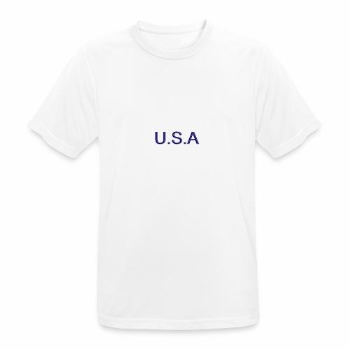 USA LOGO - T-shirt respirant Homme