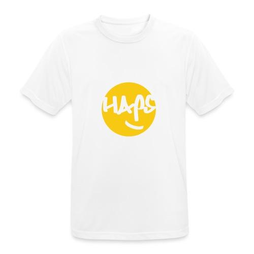 HAPS Yellow Logo - Men's Breathable T-Shirt