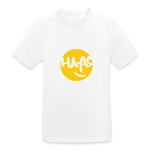 HAPS Yellow Logo - Men's Breathable T-Shirt