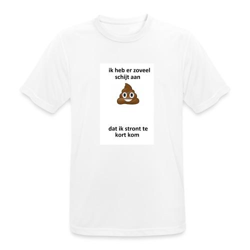 Ik heb er schijt aan - Mannen T-shirt ademend actief