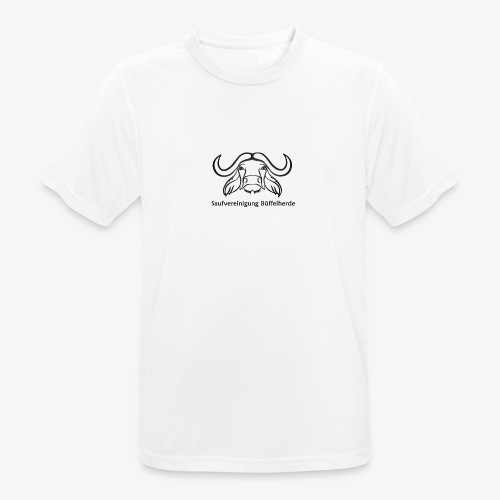 Bueffel mit schrift - Männer T-Shirt atmungsaktiv
