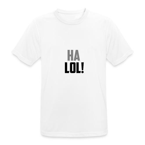 The CrimsonAura 'Ha LOL!' Stream Quote. - Men's Breathable T-Shirt