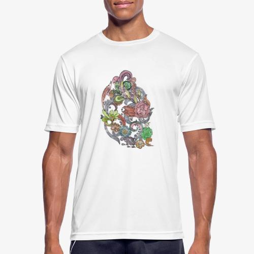 Flower Power - Rough - Andningsaktiv T-shirt herr