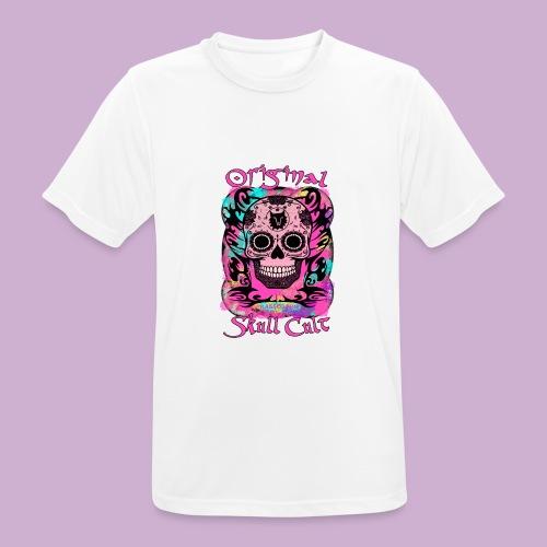 ORIGINAL SKULL CULT PINK - Männer T-Shirt atmungsaktiv