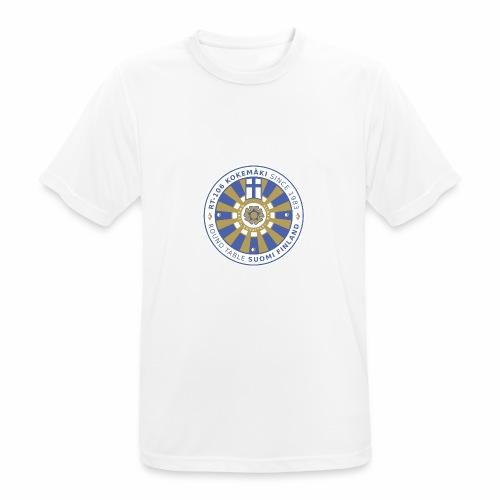 RT106 tummalletaustalle - miesten tekninen t-paita