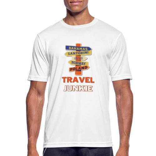 traveljunkie - i like to travel - Männer T-Shirt atmungsaktiv