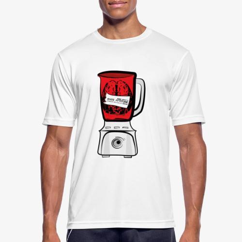 Hirn im Mixer - neon rot - Männer T-Shirt atmungsaktiv