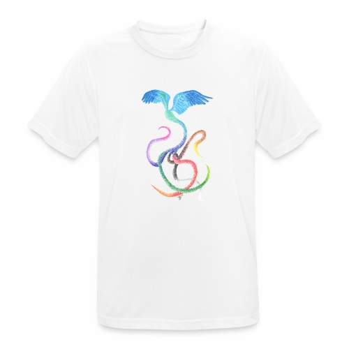 Graceful - Rainbow Bird in Ink - Men's Breathable T-Shirt