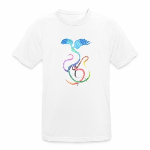 Gracieux - Oiseau arc-en-ciel à l'encre - T-shirt respirant Homme
