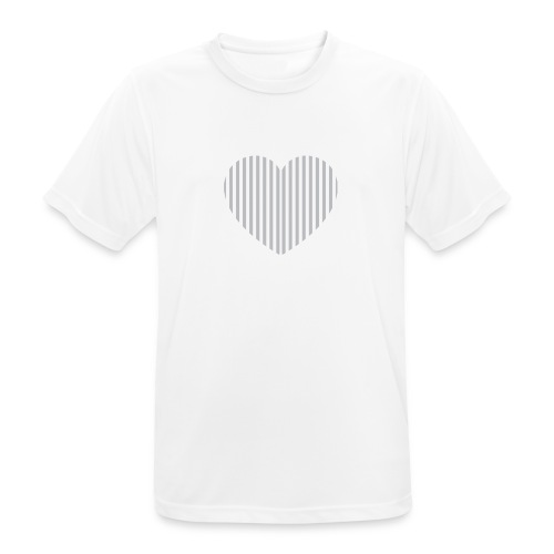heart_striped.png - Men's Breathable T-Shirt