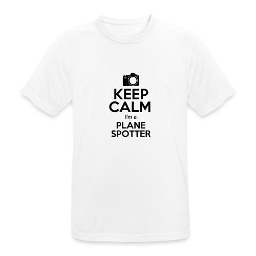 Keep Calm PlaneSpotter - Maglietta da uomo traspirante