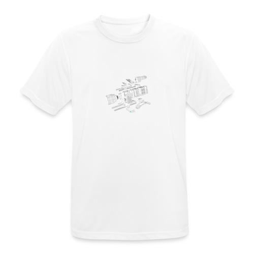 VivoDigitale t-shirt - RED - Maglietta da uomo traspirante