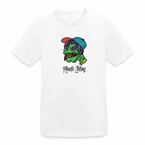 Monsta T-Shirt With Text - Men's Breathable T-Shirt