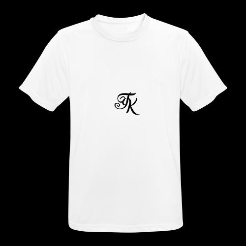 Camiseta blanca basica con logo TokyoXbrand - Camiseta hombre transpirable