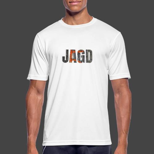 JAGD-Shirt für Jäger/innen, Motiv Drückjagdstand - Männer T-Shirt atmungsaktiv