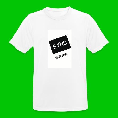 t-shirt-DIETRO_SYNK_SUCKS-jpg - Maglietta da uomo traspirante