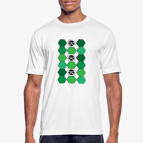 |K·CLOTHES| HEXAGON ESSENCE GREENS & WHITE - Camiseta hombre transpirable