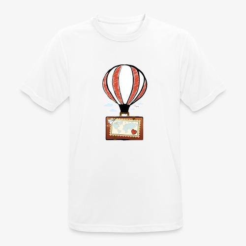 CUORE VIAGGIATORE Gadget per chi ama viaggiare - Maglietta da uomo traspirante