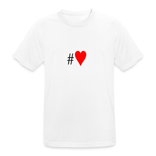 Hashtag Heart - Men's Breathable T-Shirt