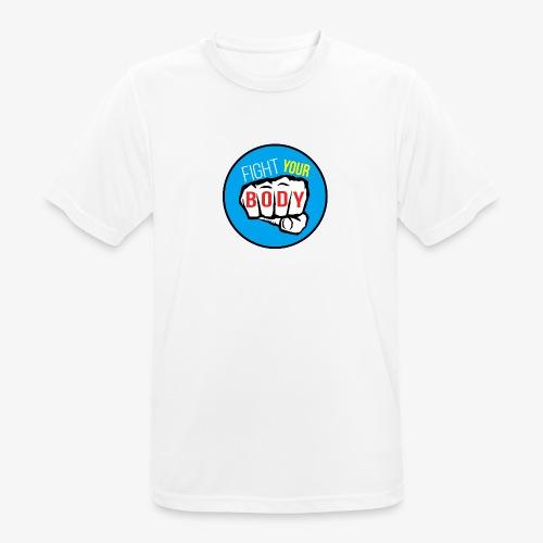 logo fyb bleu ciel - T-shirt respirant Homme