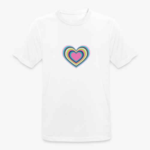 Psychedelic Heart - Men's Breathable T-Shirt