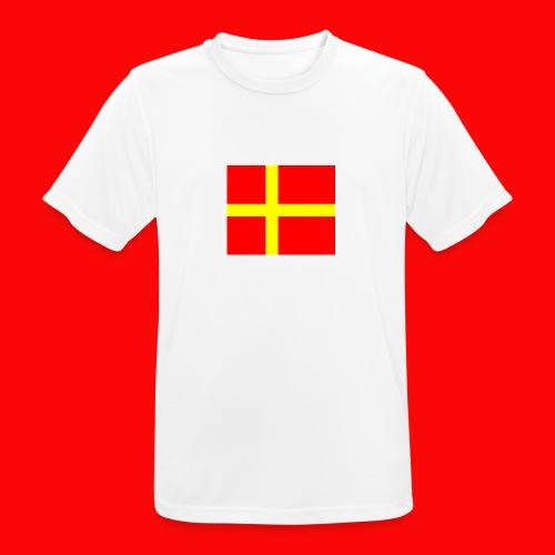 skanes flagga - Andningsaktiv T-shirt herr