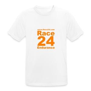 Race24 Logo in Orange - Men's Breathable T-Shirt