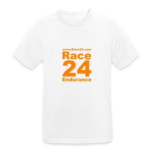 Race24 Logo in Orange - Men's Breathable T-Shirt