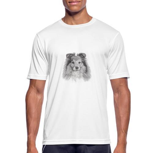 shetland sheepdog sheltie - Herre T-shirt svedtransporterende