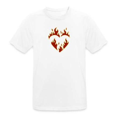 Brennendes Herz - Männer T-Shirt atmungsaktiv