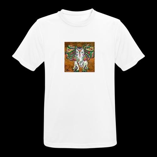 elefante - mannen T-shirt ademend