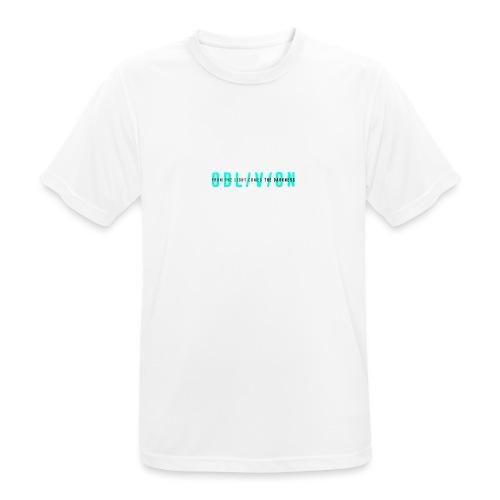 OBL/V/ON white - Maglietta da uomo traspirante