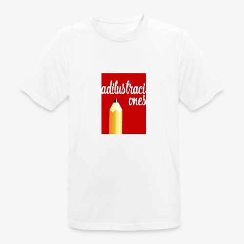 Ad ilustraciones Rojo - Camiseta hombre transpirable