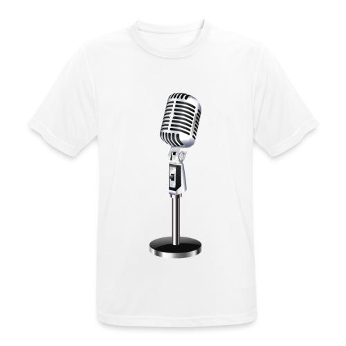En Mikrofon T-Skjorte - Pustende T-skjorte for menn